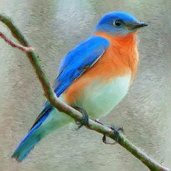 Blue Bird Paintings Big Blue Bird Aunt Thelma S Porch