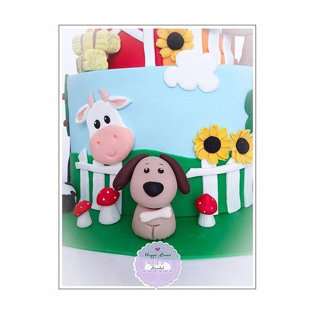 Çiftlik temamızın hayvanlarına yakından bakalım mı?  #happysweetistanbul #cakeart #sekerhamuru #sugarart #cupcake  #doğumgünüpastası #birthday #birthdaycake #1yaş #candycorner #butikpasta #pasta  #cake #cookie #cookieart  #minniemouse #çiftlik