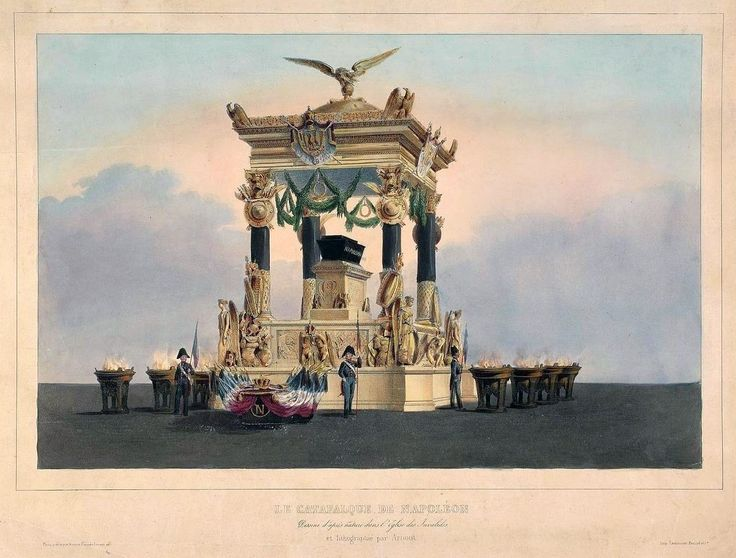 Catafalque of Napoleon Bonaparte by Rose Joseph Lemercier after Jean-Baptiste Arnout, 1840 (PD-art/old), Muzeum Narodowe w Warszawie (MNW)
