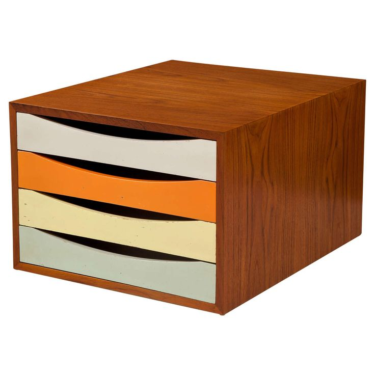 Finn Juhl Four-Drawer Teak Desk Console | From a unique collection of antique and modern commodes and chests of drawers at https://www.1stdibs.com/furniture/storage-case-pieces/commodes-chests-of-drawers/
