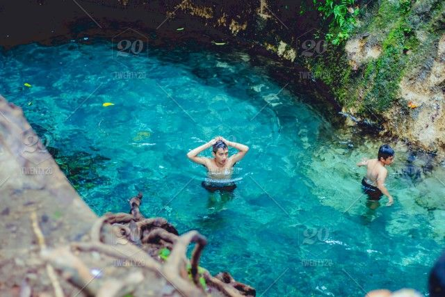 Swimming In Crystal Clear Natural Spring Pool In The Forest Stock Photo 66532b88 92ae 4ab3 812a 0a14a076b2d9 Spring Nature Stock Photos Pool