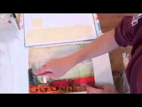 Jane Davies calms busy collage with this brayer technique
