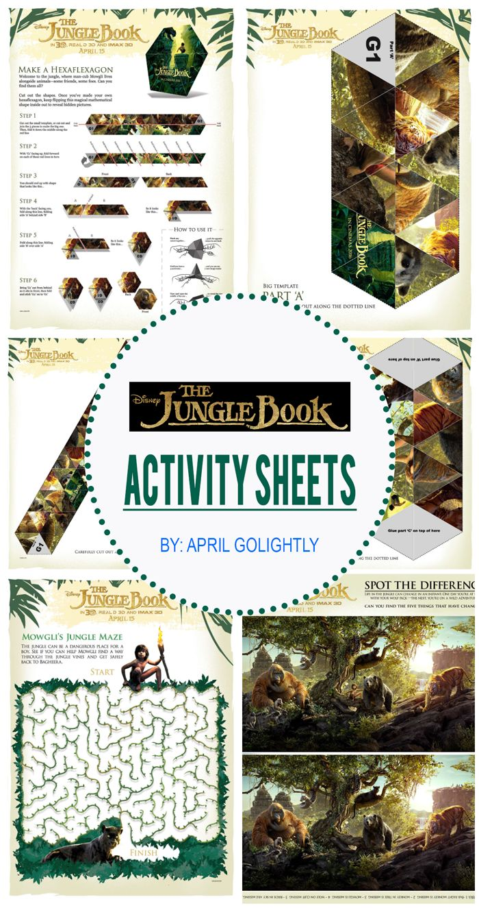 Jungle Book Party Ideas with activity sheets  a complete plan for this Disney Party