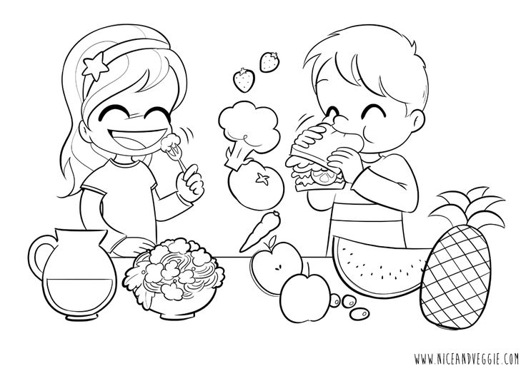 Kids Eating Veggies