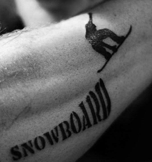 90 Snowboard Tattoo Designs für Männer – Cool Tinte Ideen