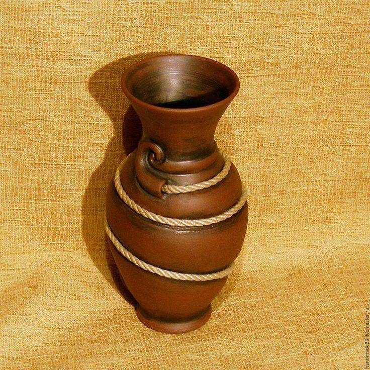 """Купить ваза """"либерти"""" - коричневый, ваза для цветов, ваза, интерьер, интерьерный букет"""