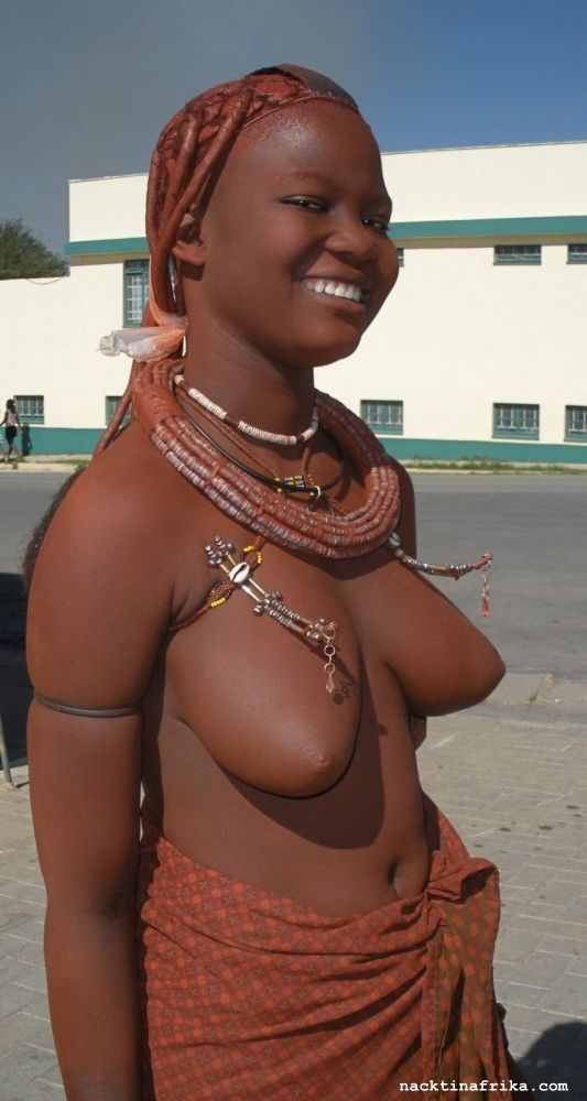 With naked african lady touch breasts young