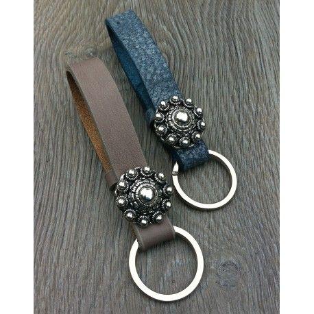 Sieraden, Cuoio sleutelhanger leer 15 mm, www.sieradenwebshop.com