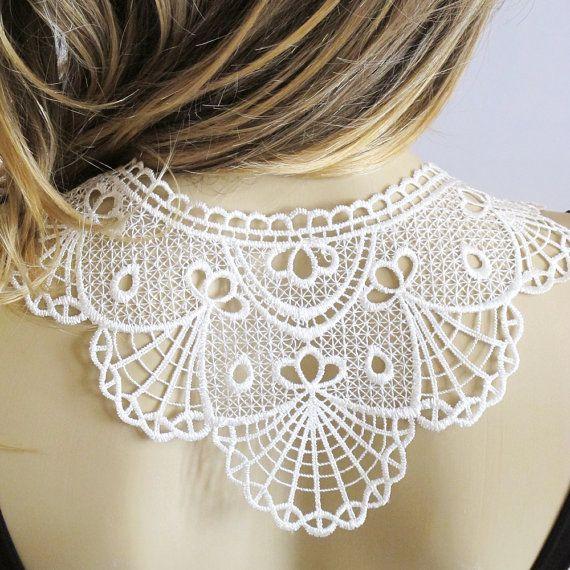 Lace Necklace bib necklace  body jewelry Collar by selenayselenay