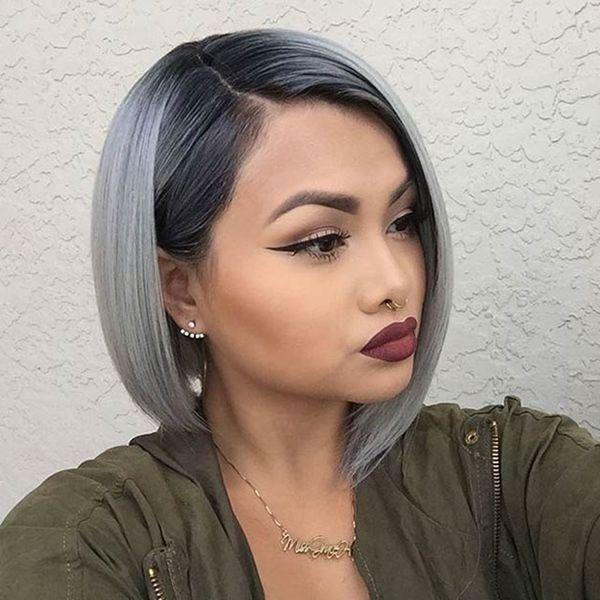 Silber farbe haare  97 besten Ombre Bilder auf Pinterest | Haarfarben, Friseur und ...