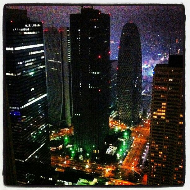Tokyo Night View from Government Official Bdg.