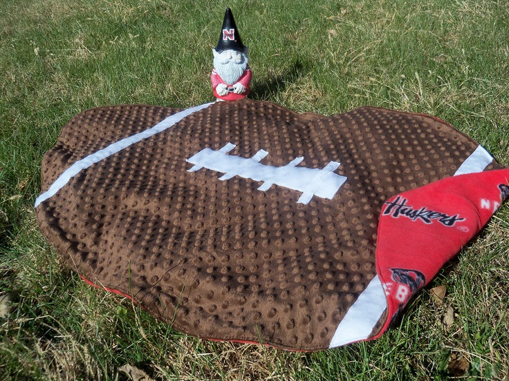 Football baby quilt. I actually made something I pinned!