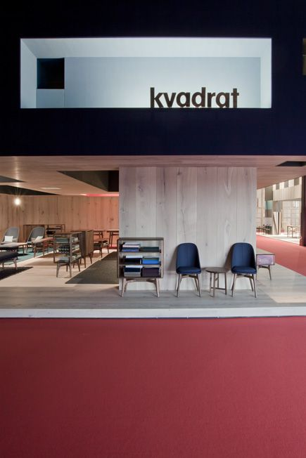 Kvadrat's stand at Salone del Mobile designed by Neri&Hu