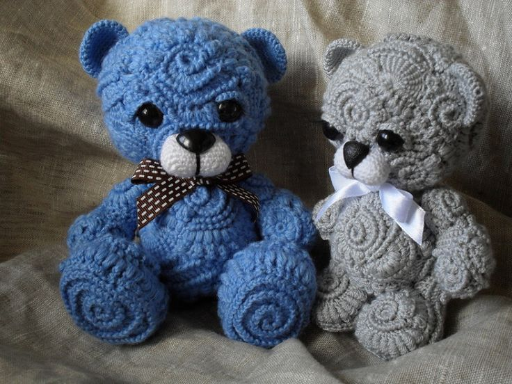 Freeform crochet teddy bears!!!