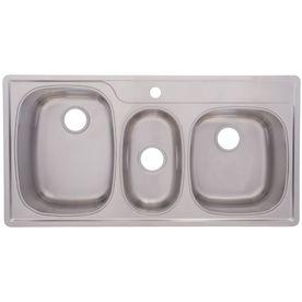 Franke USA�18-Gauge Triple-Basin Drop-In Stainless Steel Kitchen Sink
