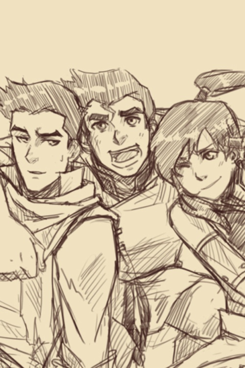 Bolin, Mako and Korra ...Is it weird that I find their personalities dangerously close to the personalities of three of the characters that occupy my mind? @Megan, guess who they are. ;)