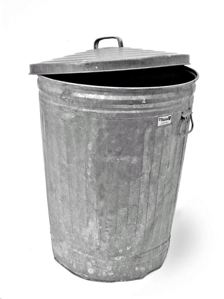 Remember metal garbage cans?