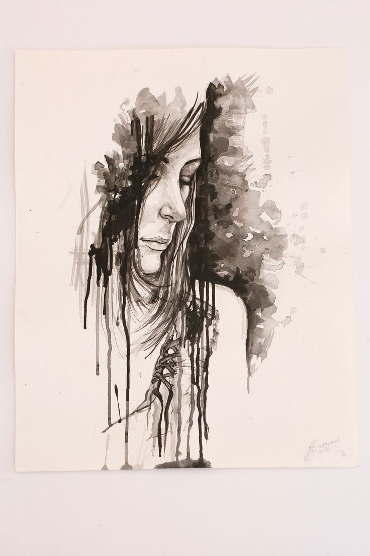 Natalie Eastwood Smith Ink on Fabriano 419X552 Introspection I