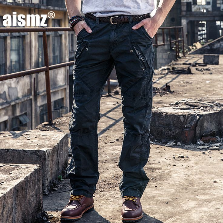 Aismz Cargo Pants military style Men Army Pocket Trousers Cotton Casual  Multi Pocket Militar Tactical Pants For Men 3258