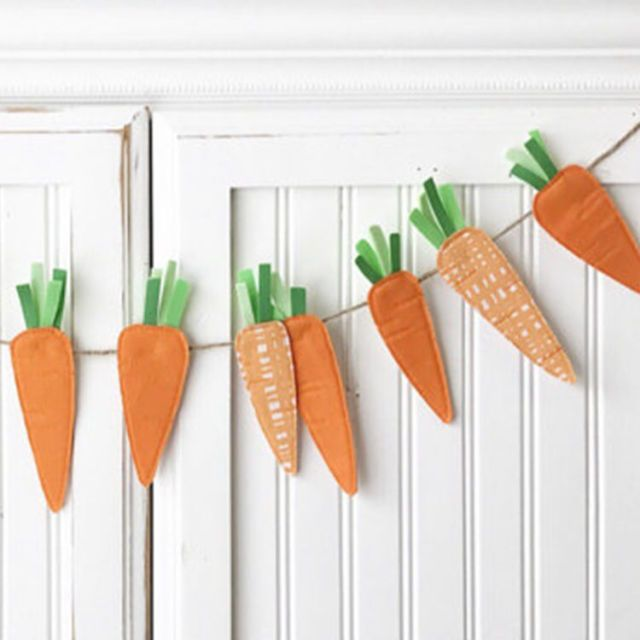 MumliCreates 5-Foot Carrots Bunting Banner - BestProducts.com
