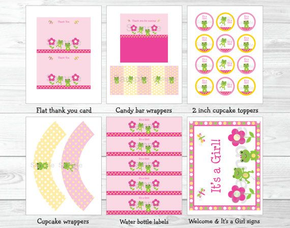 123 best printable party packages images on pinterest for Baby shower decoration packages
