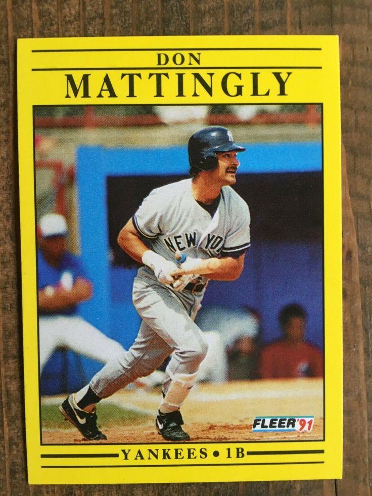 1991 fleer baseball 673 don mattingly new york yankees
