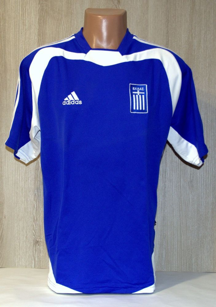 low priced 1c1ab 0ec00 GREECE NATIONAL TEAM EURO 2004 2006 FOOTBALL SOCCER SHIRT ...