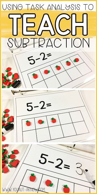 Task Analysis is a great way to teach subtraction skills in the Special Education Classroom. Task Analysis is an Evidence Based Practice for Autism and makes a great lesson in any classroom.