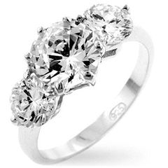 Classic Clear Triplet Anniversary Ring *USA IMPORT* for R310.00 www.luckysilver.co.za