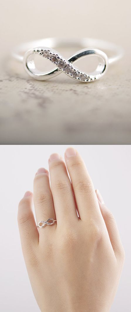 Dainty infinity ring. Yup I would definitely be ok with a wedding ring like this