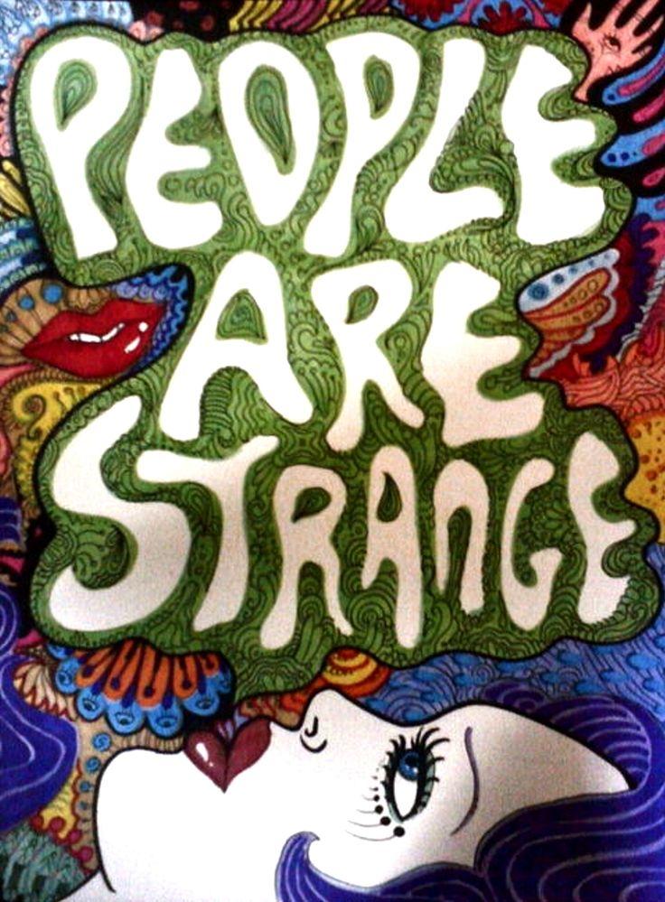 People Are Strange art - The Doors, 1967.