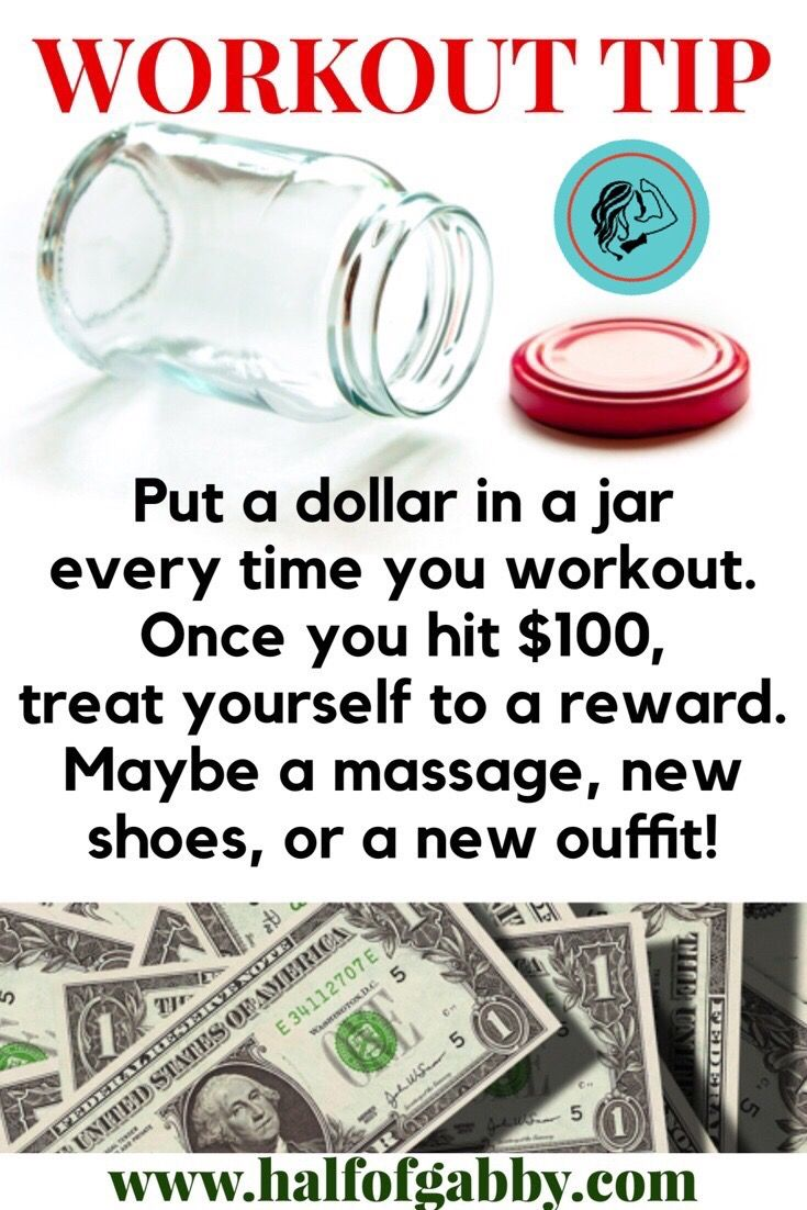 Thinking of a clever reward for working out besides losing weight?
