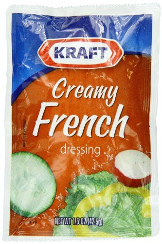 Kraft Creamy French Salad Dressing, 1.5-Ounce Packages (Pack of 60) Kraft Brand Dressing http://www.amazon.com/dp/B00164X6BO/ref=cm_sw_r_pi_dp_xh6Cub0Q5PK2Z