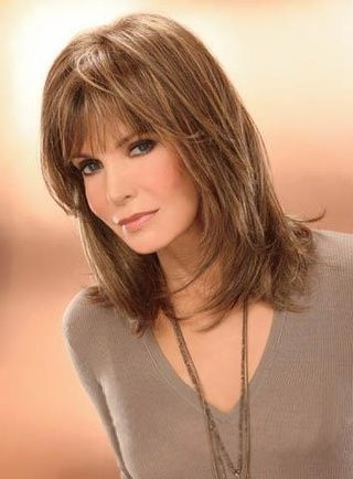 photos of hair styles youthful medium capless synthetic wig 12 inches 9774
