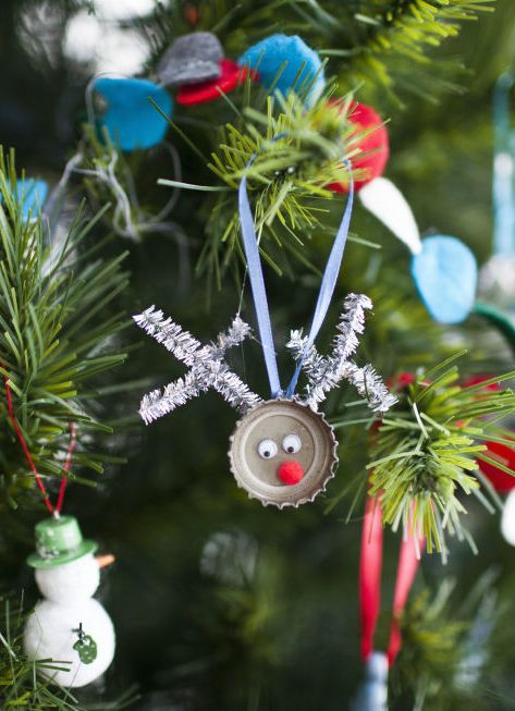 50 homemade christmas ornaments for your tree diy for Five homemade christmas tree topper ideas