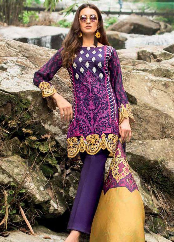 529e656da8 Zainab Chottani Embroidered Lawn Unstitched 3 Piece Suit ZC19L 3B DANDELION  SHADOWS - Spring / Summer Collection