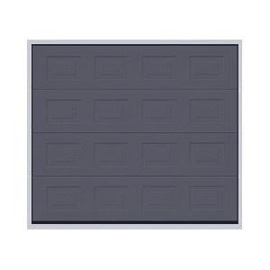 Porte sectionnelle à cassettes couleur saphir - www.emf17.fr