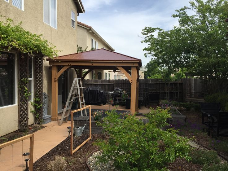 I didn't make it, but I built this 12x12 gazebo in April 2017.  It came in 3 boxes and needed 90% of it assembled by hand.  It's gorgeous!
