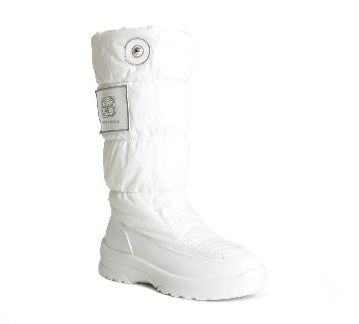 Baldinini Зимние блестящие сапоги белого цвета от бренда Baldinini