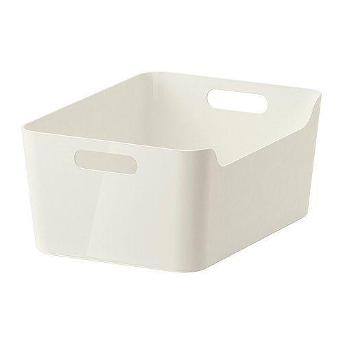 VARIERA Box IKEA Dank der seitlichen Grifföffnungen leicht herauszuziehen, zu tragen und zu transportieren.