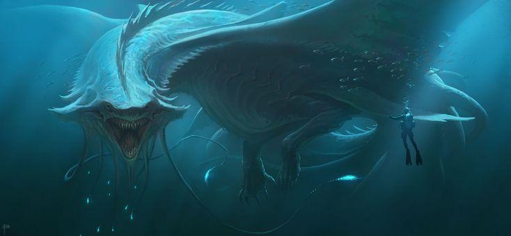 Blue Dragon, Brett MacDonald on ArtStation at https://www.artstation.com/artwork/DLr4n