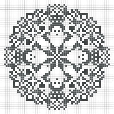 Pretty cross stitch pattern.  Maybe for a Christmas ornament?