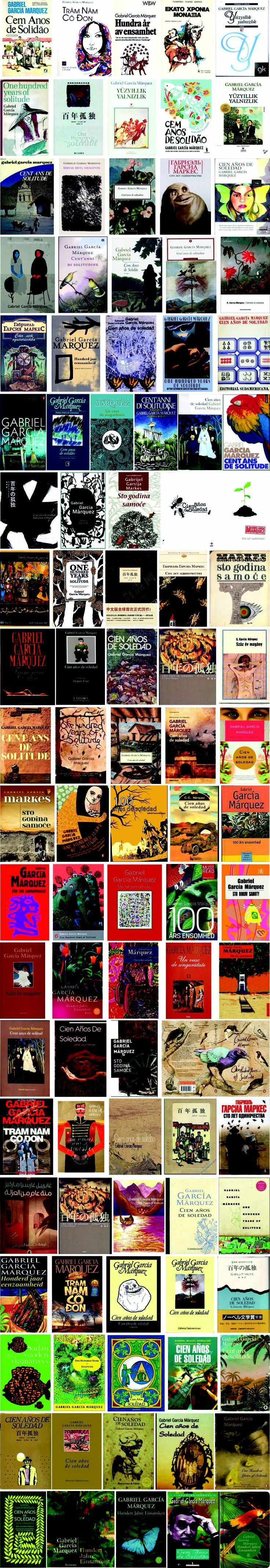"""La vuelta al mundo en las portadas del libro de Gabriel García Márquez. 100 portadas de """"Cien años de soledad"""""""