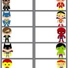 There are 11 pages of superhero name tags. These are great to use at the beginning of the year, field trips, or whenever you need a label. I've mad...