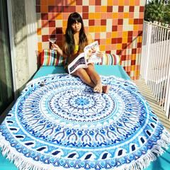 his towel is perfect for your day at the beach, a picnic blanket on a hiking trip, or as a decorative throw to make your home a little more bohemian! #beachtowel #roundtowel #bohochic #martini #bohemian #beachbum