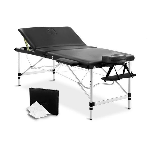 80cm Professional Aluminium Portable Massage Table - Black – Click Online Sales