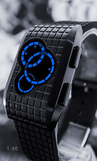 NEW from Tokyoflash Japan - Kisai Satellite-X. Three vivid halos of light behind a dark mineral crystal lens, Kisai Satellite-X is an LED watch with stylish lines and an intuitive way to view time.