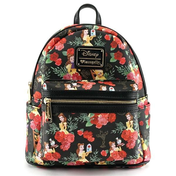 beauty and the beast mini faux leather disney backpack