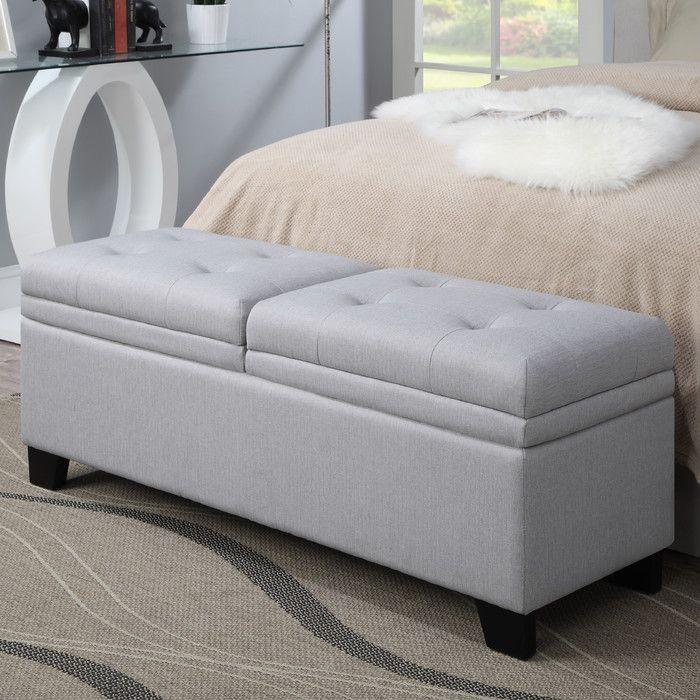 Leila Upholstered Storage Bench & Reviews | Joss & Main