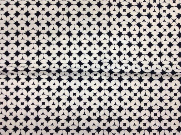 POPULO batik handstamped 'Kawung isi' black white